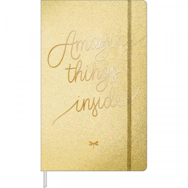 Caderneta Pontilhada Grande Shine Dourado 80 Fls C...