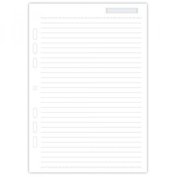 Refil Fichário Ótima Gráfica Branco Pautado