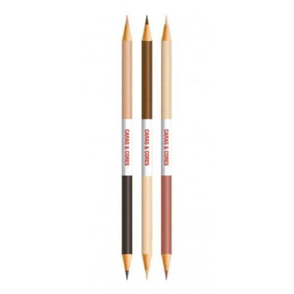 Lápis de Cor Faber Castell 12 Cores + 6 Tons de Pele